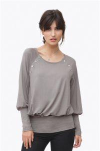 Grey nursing blouse in bamboo fibres