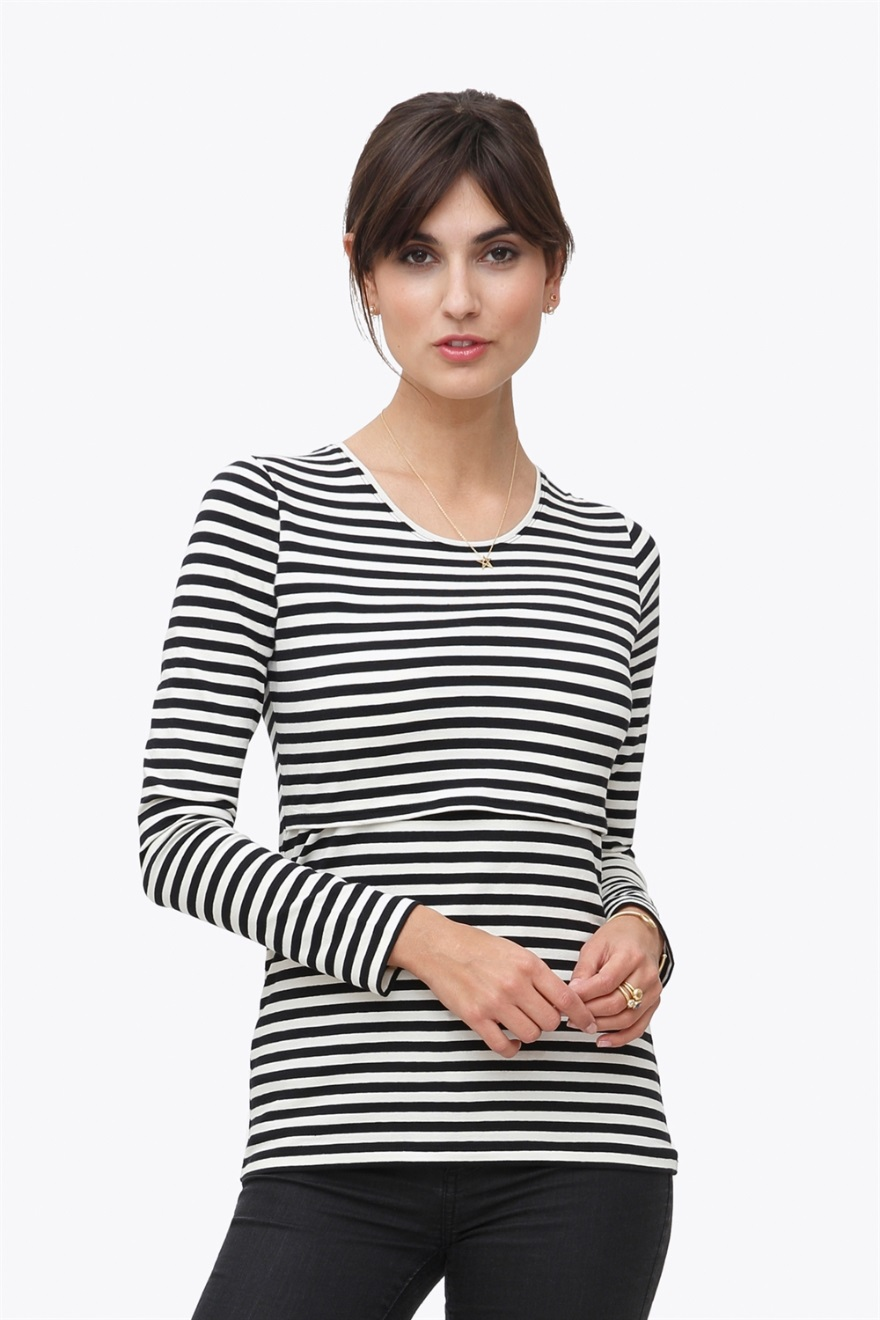 nursing blouse with stripes