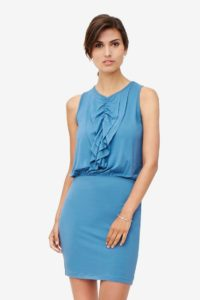 Blue nursing dress with frills