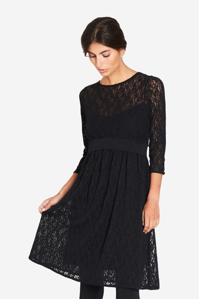 Black Lace nursing dress with Underdress